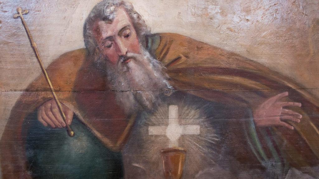 Gottvater auf dem Bogen der Frontkulisse | © Katholische Kirchgemeinde Stadt Zug